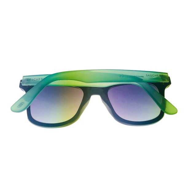 Skechers Mens Sunglass Shing Black/ Green  Square Plastic, SE8028. 1B