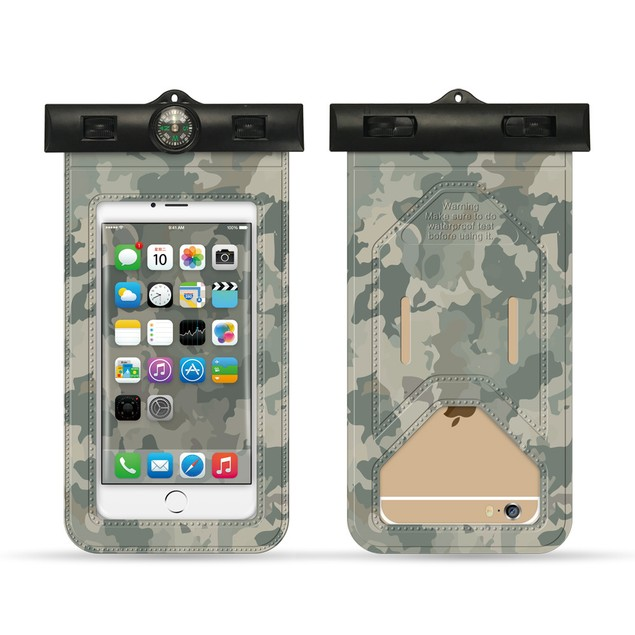 Waterproof Camouflage Compass Case
