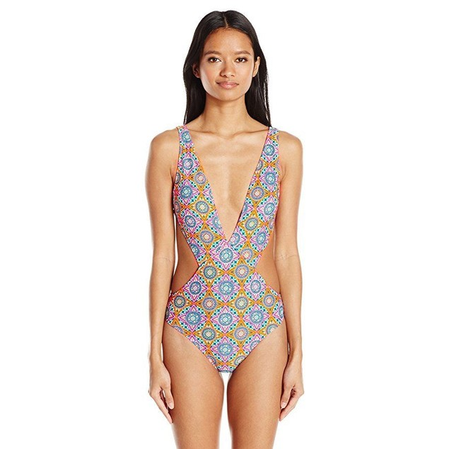 Volcom Women's Current State One Piece Swimsuit, Multi, XS