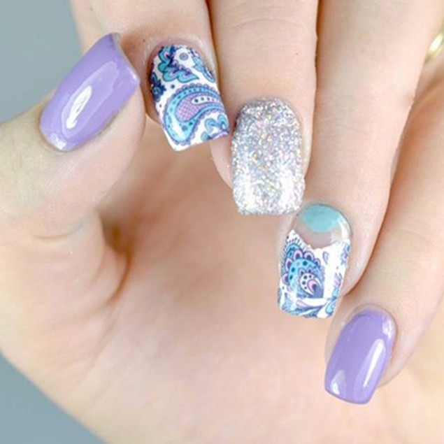 2 Sheets Nail Art Water Transfer Flower Stickers