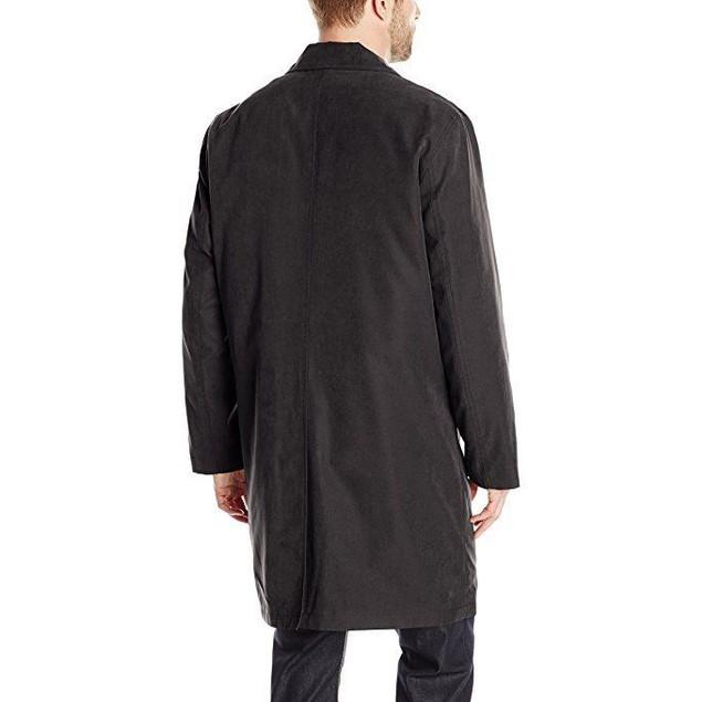 London Fog Men's Durham Rain Coat with Zip-Out Body, Black, 42