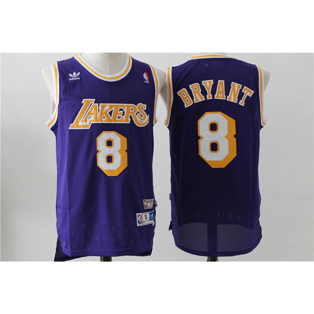 size 40 9ad49 82264 Los Angeles Lakers #8 Kobe Bryant Purple Throwback ...