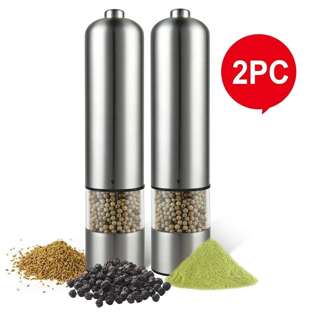 Electric Salt/Pepper Grinder | 2 Pieces