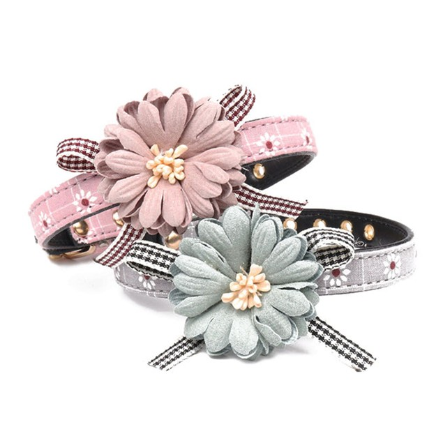 High Quality Pets Necklace With Flower