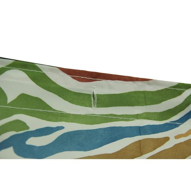 Blue Safari Hippo Rainbow Zebra Striped Fabric Shower Curtains