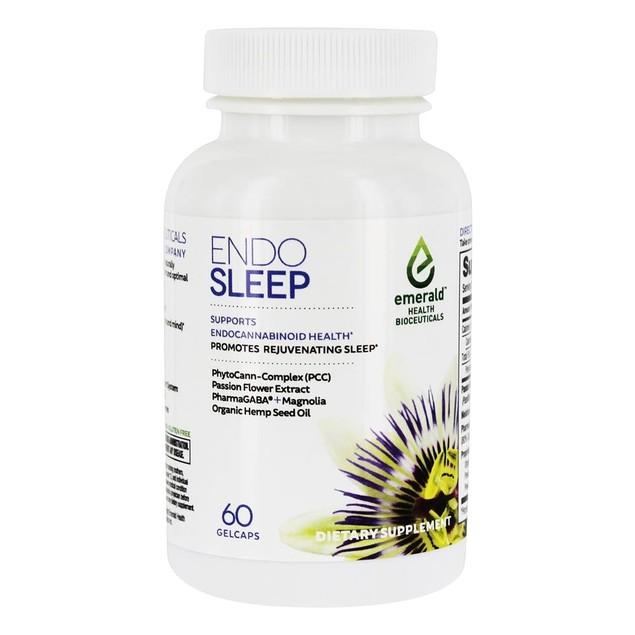 Endo Sleep Emerald Health Rest & Rejuvenation Support, Flower Extract, 60
