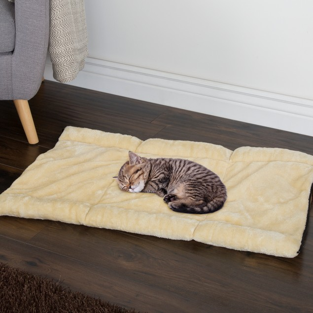 PETMAKER Convertible Plush & Cozy Thermo-Reflective Kitty Hut
