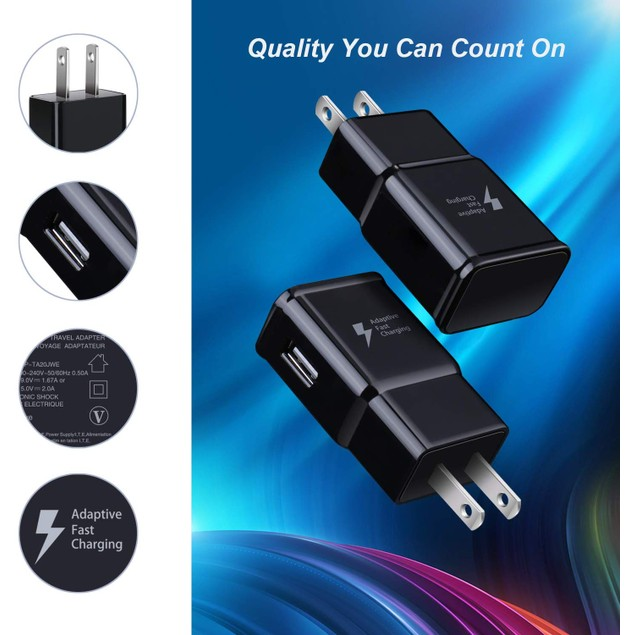 3-Pack of Fast Charging USB Wall Chargers
