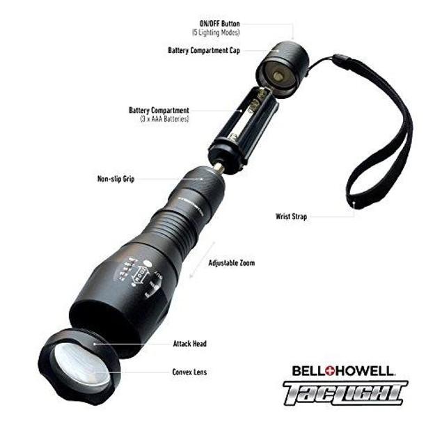 "Taclight 10.5"" Ultra-Bright Flashlight (80X Brightness) - AS SEEN ON TV"
