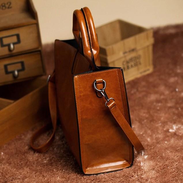 Women Leather HandBag  Messenger Shoulder Bag  Satchel  Y