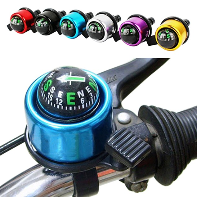Bike Handlebar Compass Ring-down Horn Bicycle Bell