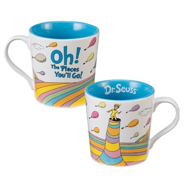 Dr. Seuss Oh The Places You'll Go White Coffee Mug Ceramic Graduation Gift