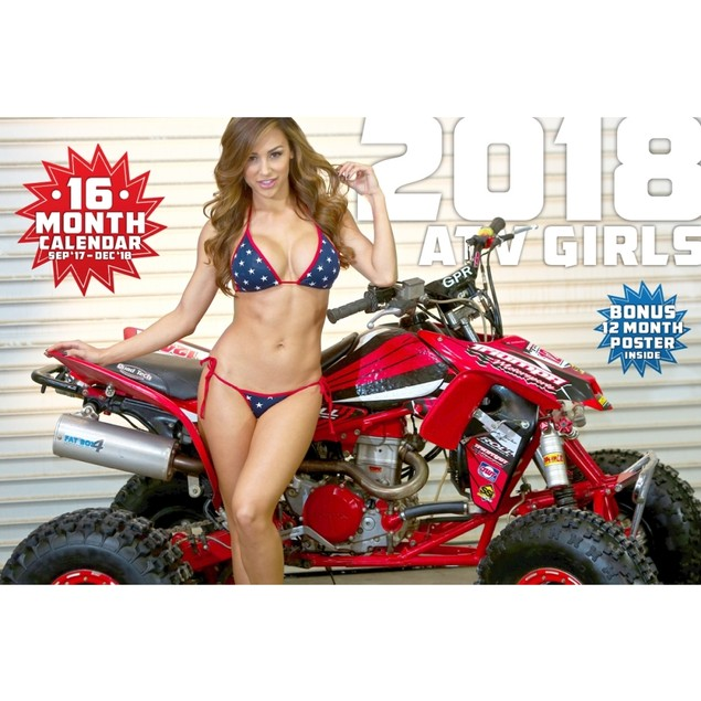 ATV Girls Wall Calendar, Auto Models by Kelly`s Motorcycle Accessories