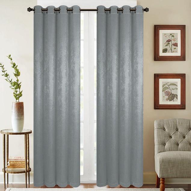 "2-Pack 52"" x 84"" Energy Saving Blackout Window Curtain Panels"