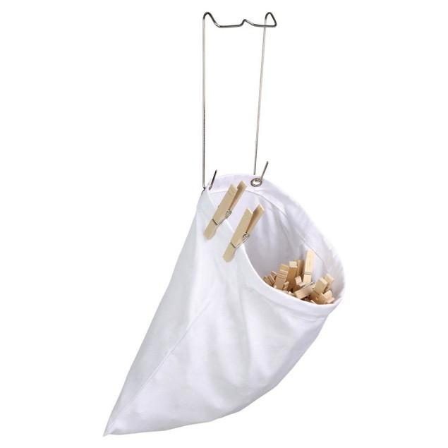 Honey Can Do Clothespin Bag - Set of 2, White