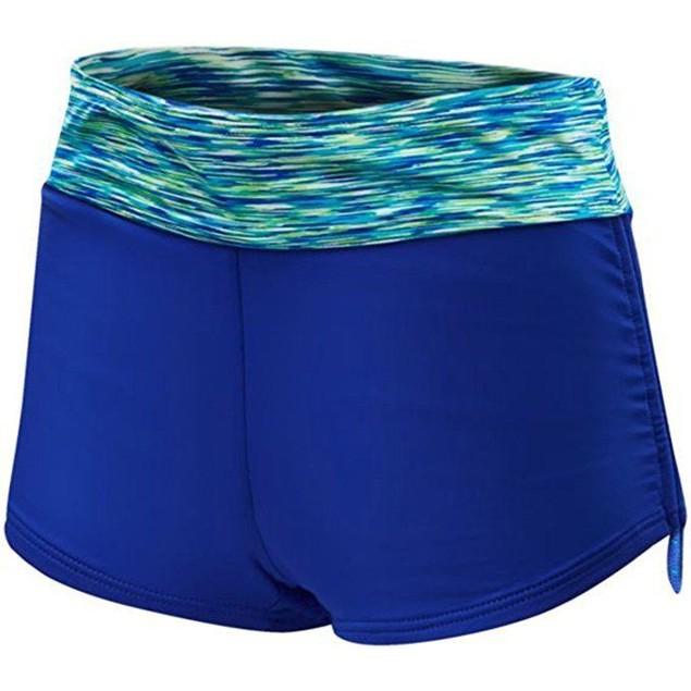 TYR Women's Sonoma Active Mini Swim Boyshort Royal Swimsuit Bottoms SZ