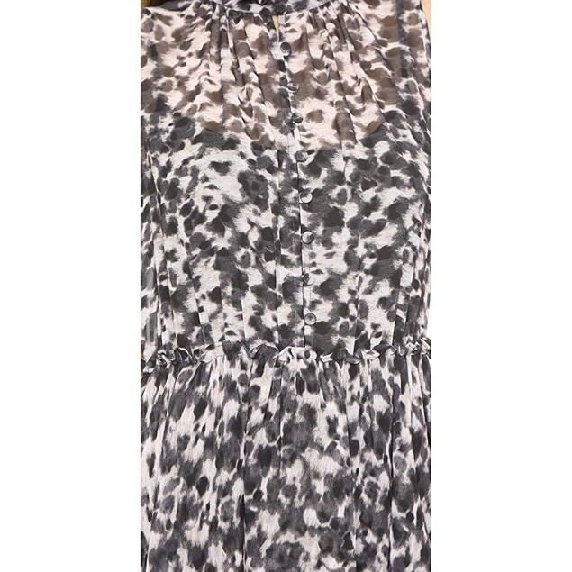 Rachel Zoe Women's CRUZ Ruffle Dress Black Multi Dress  SZ 10