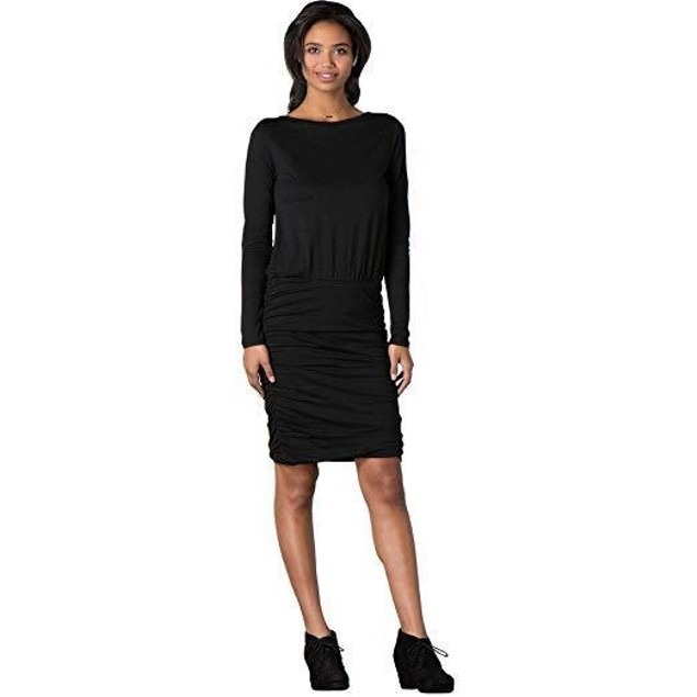 Toad&Co Women's Outfox Dress Black Dress LG