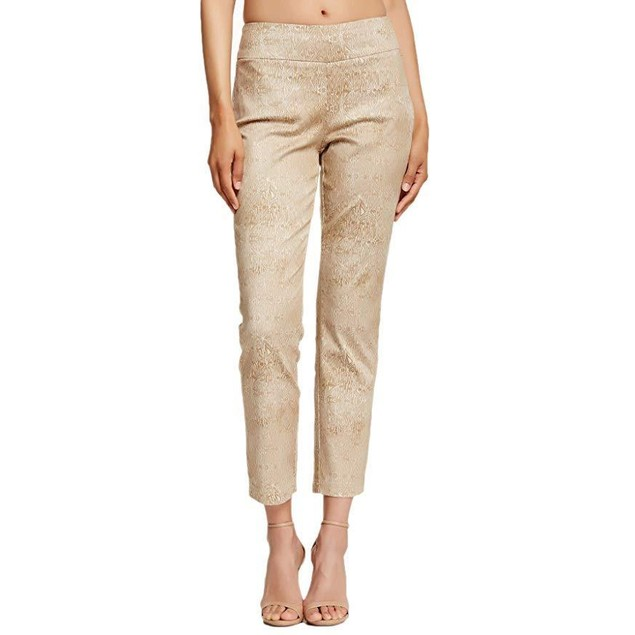 Miraclebody Jeans Women's Judy Ankle Pants Natural White Pants 4 X 28
