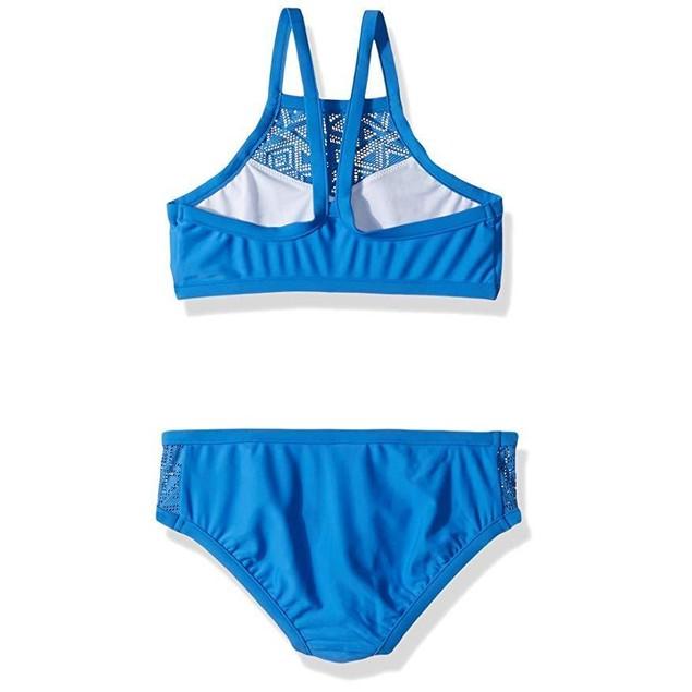 Seafolly Big Girls' Apron Tankini Swimsuit, Hawaii Blue, 12