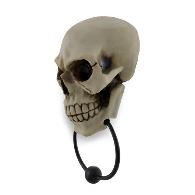 Gothic Skull Face Sculptural Door Knocker Door Knockers