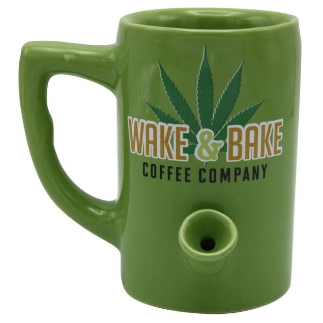 Wake and Bake Mug, Mature Humor by Island Dogs