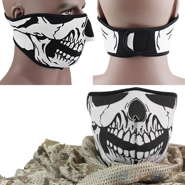 Skull Neoprene Half Face Mouth Facial Mask