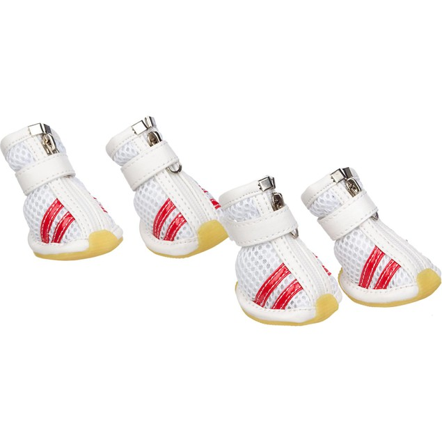 Flexible Air-Mesh Lightweight Pet Shoes Sneakers - Set of 4