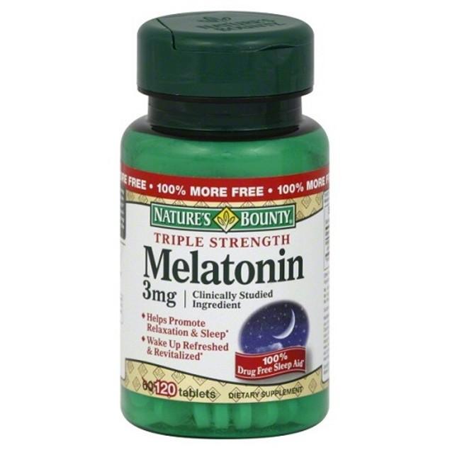 Nature's Bounty Melatonin 3 mg Triple Strength Tablets 120ct