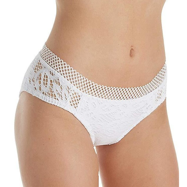 Becca by Rebecca Virtue Women's Captured Hipster Bikini Bottom White M