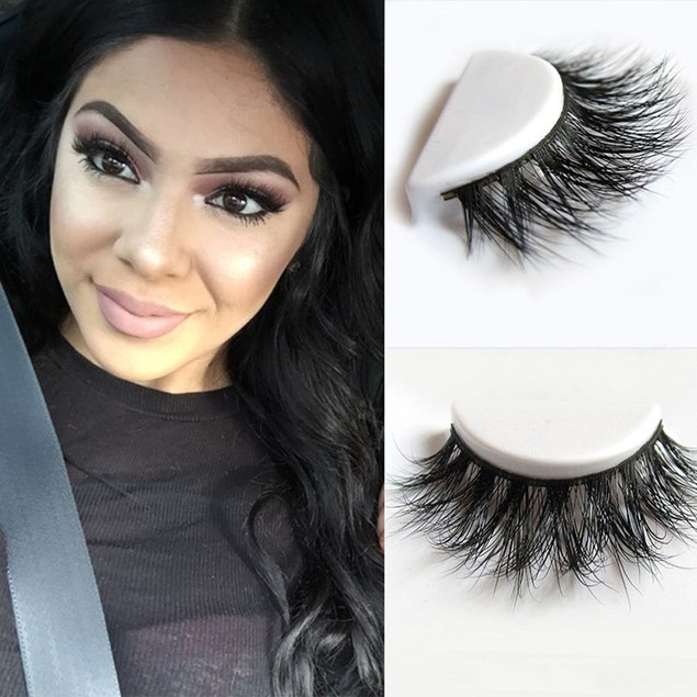 3D Faux Mink Makeup Cross False Eyelashes Eye Lashes Extension Tool
