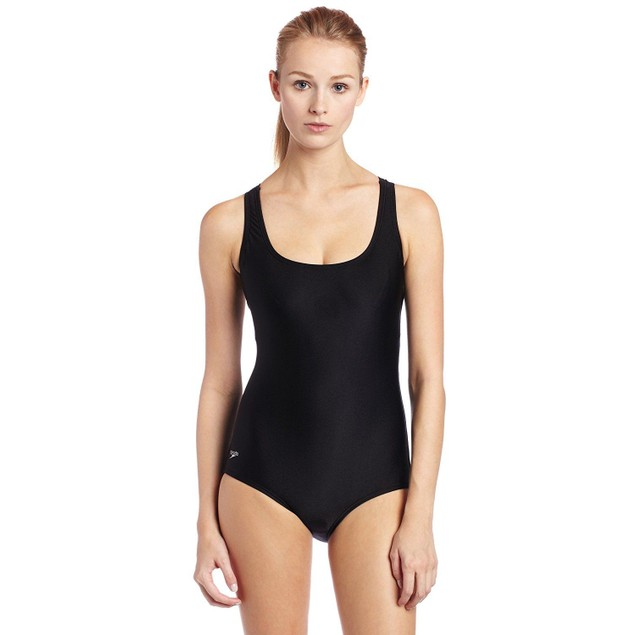 Speedo Women's Aquatic Moderate Ultraback Swimsuit, Black,  Sz: 16
