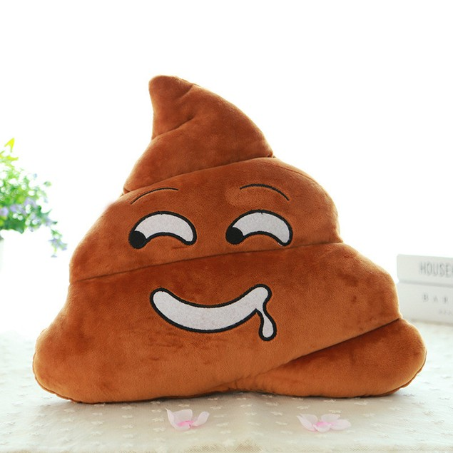 Mini Poo Emoji Decorative Pillow