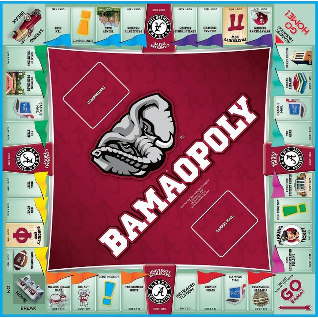 Bamaopoly Board Game: For Alumni, Students, & Friends of University of