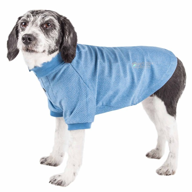 Pet Life Active 'Fur-Flexed' Relax-Stretch Performance Dog Polo T-Shirt