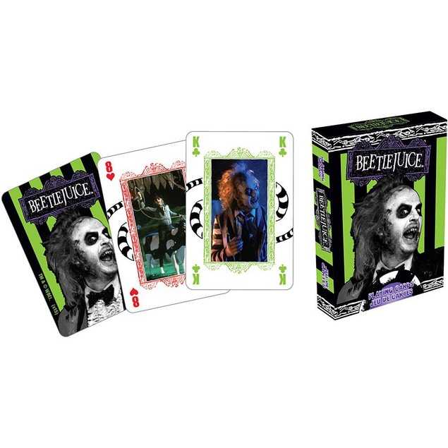 Beetlejuice Playing Cards, Classic Movies by NMR Calendars