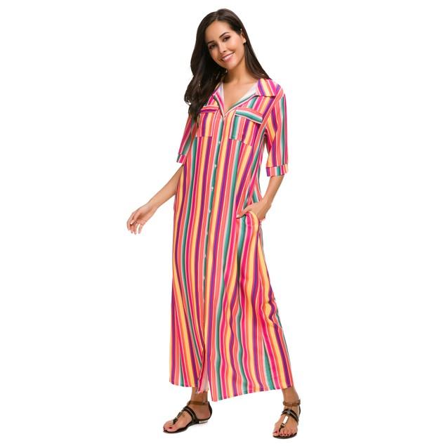 Boho Striped Maxi Dress