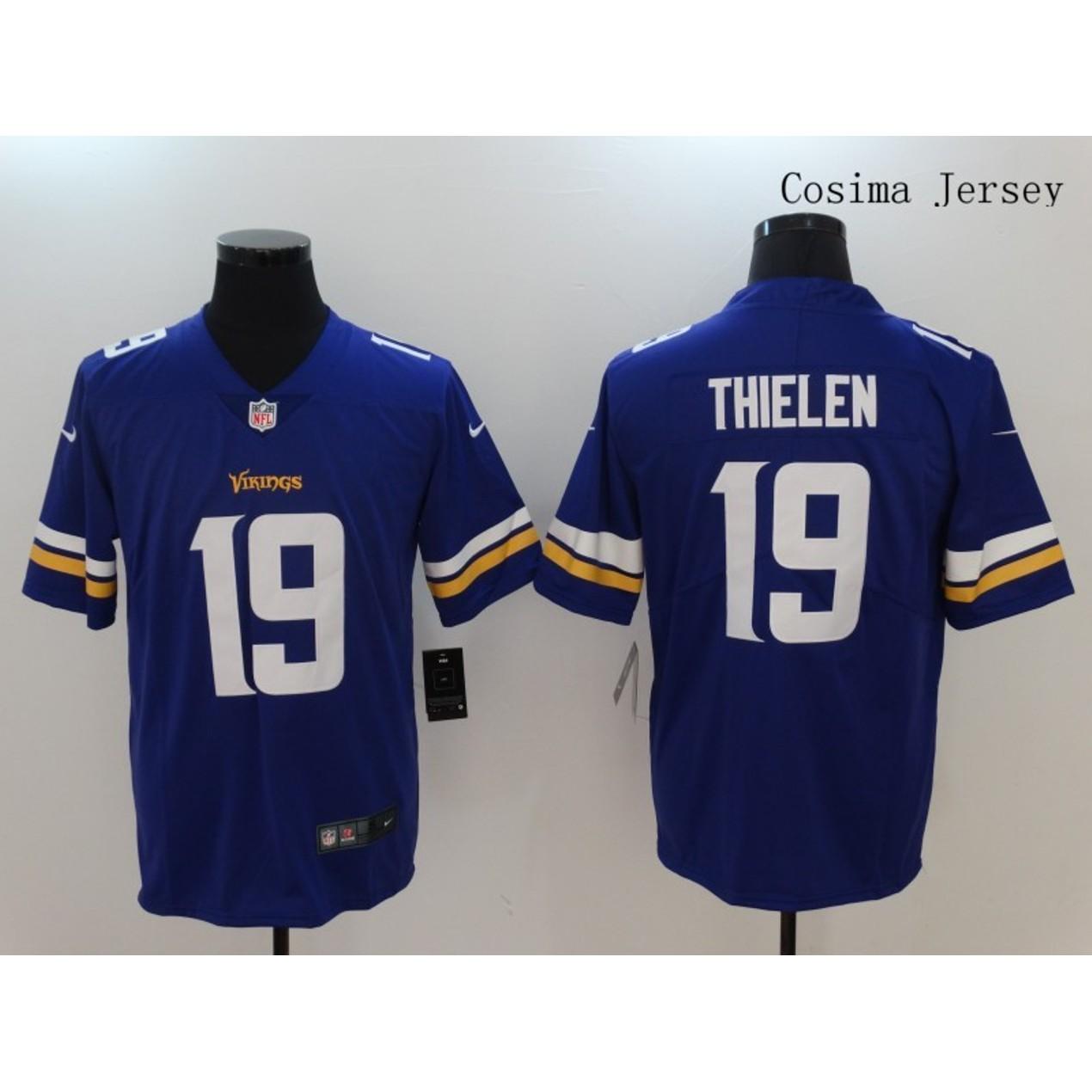 detailed look 417f7 f3fcd Mens Minnesota Vikings #19 Adam Thielen Limited Jersey Blue ...