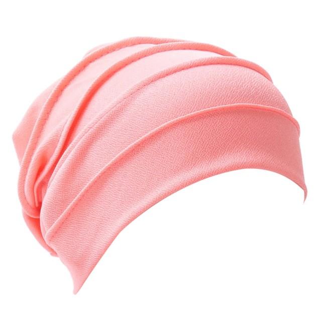Women Bowknot Muslim Ruffle Cancer Chemo Hat Scarf Turban Head Wrap Cap E
