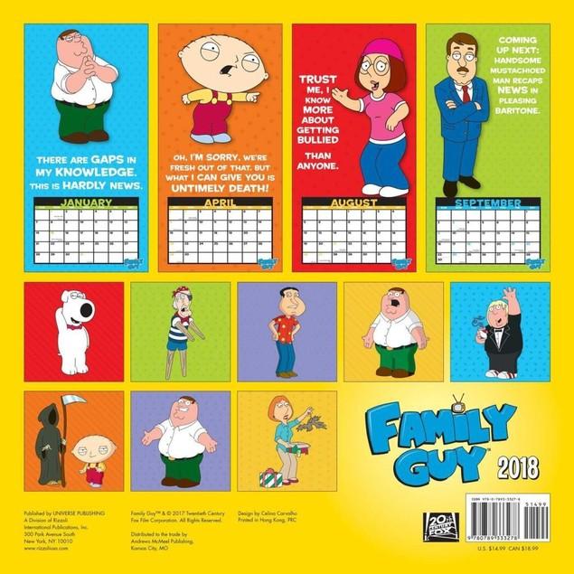 Family Guy Wall Calendar, Comedy TV by Calendars