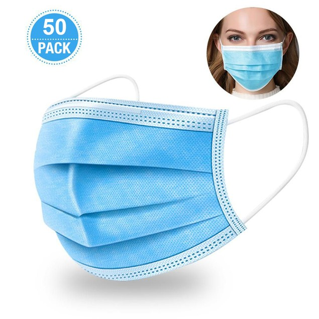 25 or 50 Pack Disposable Mask | Bonus 3 Pack Protector Case Included