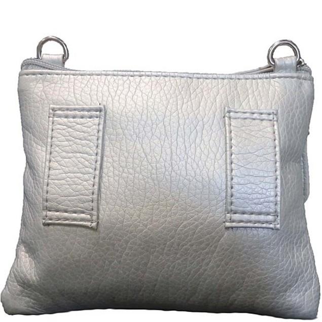 Metallic Silver Crossbody Bag