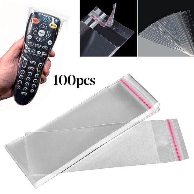 100Pcs Home Hotel TV Air Condition Remote Control Cover Protection Bag
