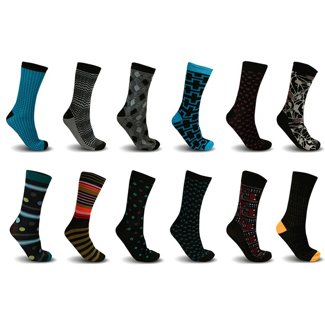 Mystery Deal: Men's James Fiallo Casual Dress Socks