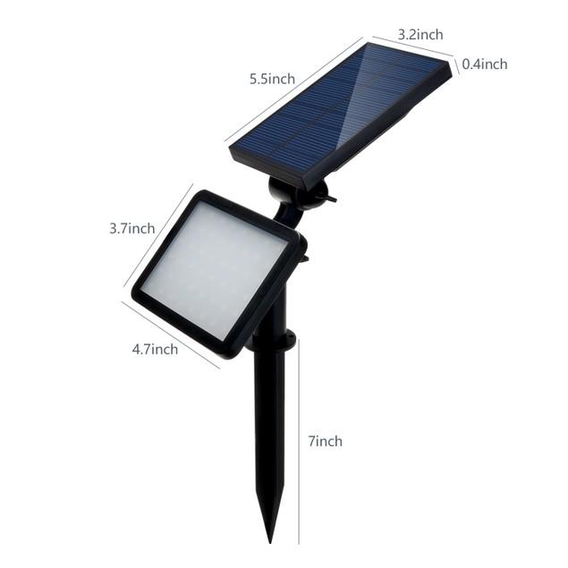 AGPtek® Outdoor SpotLight Solar Wall Lamp Waterproof Security Night Light