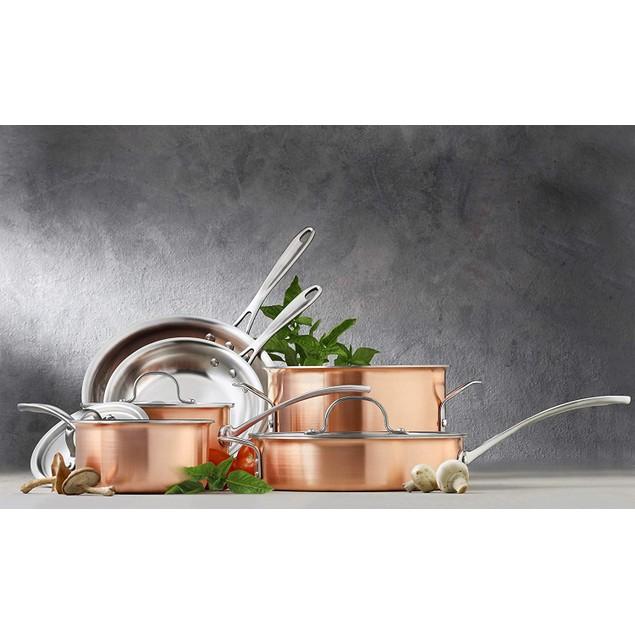 Calphalon Tri-Ply Copper 10-Piece Cookware Set
