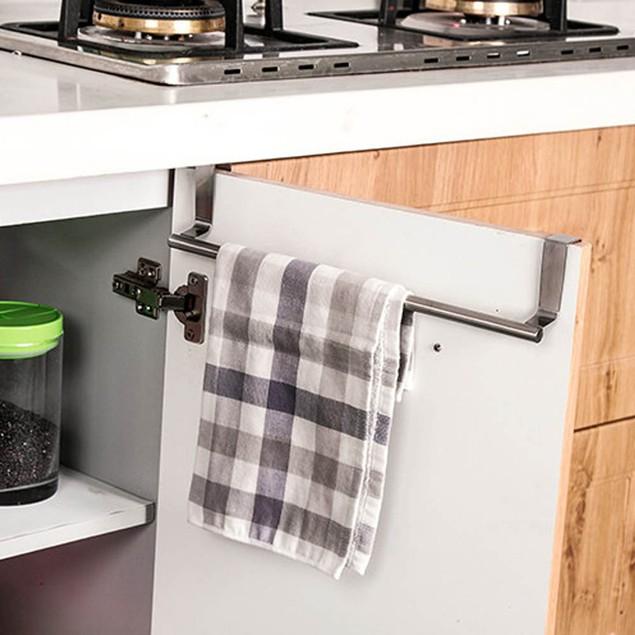 1PC Kitchen Over Door Towel Rack Hanging Holder Bathroom Cabinet Shelf