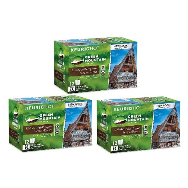 Green Mountain Coffee Sumatran Reserve Keurig K Cup 3 Box Pack