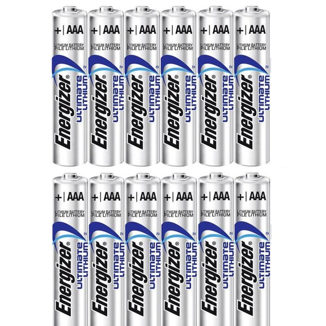 Energizer Ultimate Lithium L92 AAA Batteries (12 Pack)