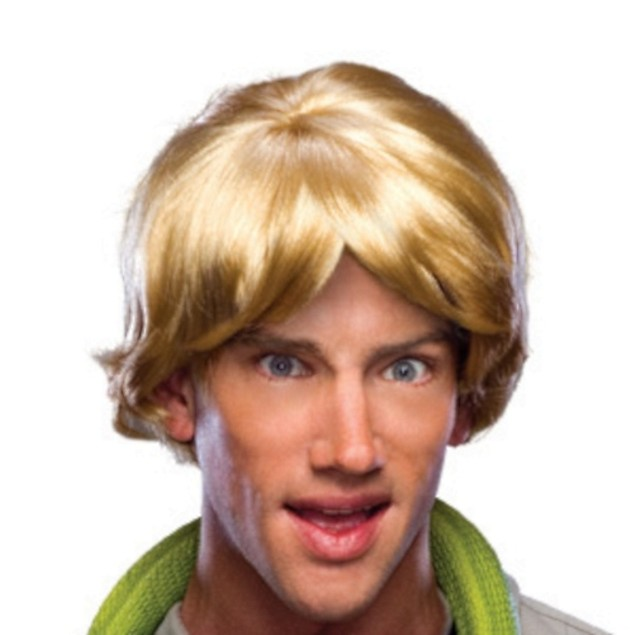Blonde Mens Parted Wig Zack Morris Chris Farley Costume Accessory Surfer